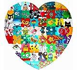 Geschenke 24 Hochzeitspuzzle Herz zum Bemalen 74 x 72cm...