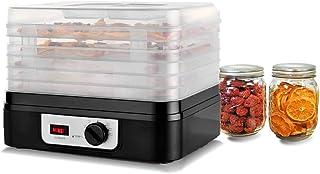 Venga! Déshydrateur Alimentaire, avec 5 Plateaux Larges, Température Ajustable, 245 W, Noir/Blanc, VG FD 3000