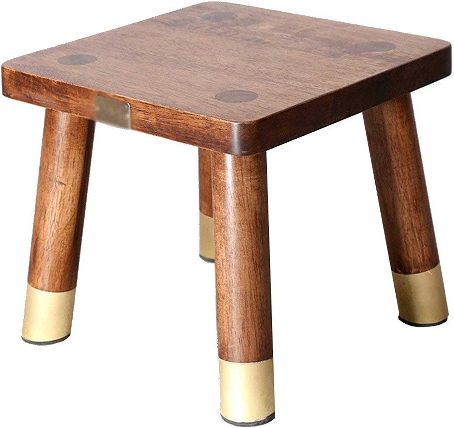 GJD Household Wood Stool, Change shoes Bench Square Stool Bathroom Stool Wooden Chair Foot Stool 26  26  23cm