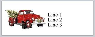 150 Personalized Return Address Labels Vintage red Truck Christmas Tree Dog Bird (jx 35)