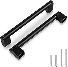 "Zwart, 15 Pack 160mm (6 1/4"") Gatcentra, Roestvrij Staal Moderne Vierkante Kast Lade Handvatten Apparaat Keuken Hardware, ..."