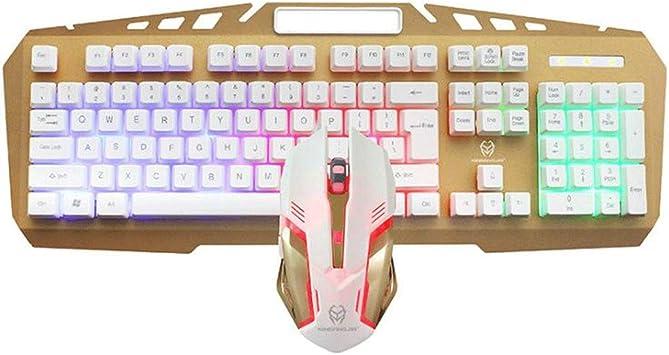 KINGXX-01 Pack de Teclado y ratón inalámbricos Teclado de ...
