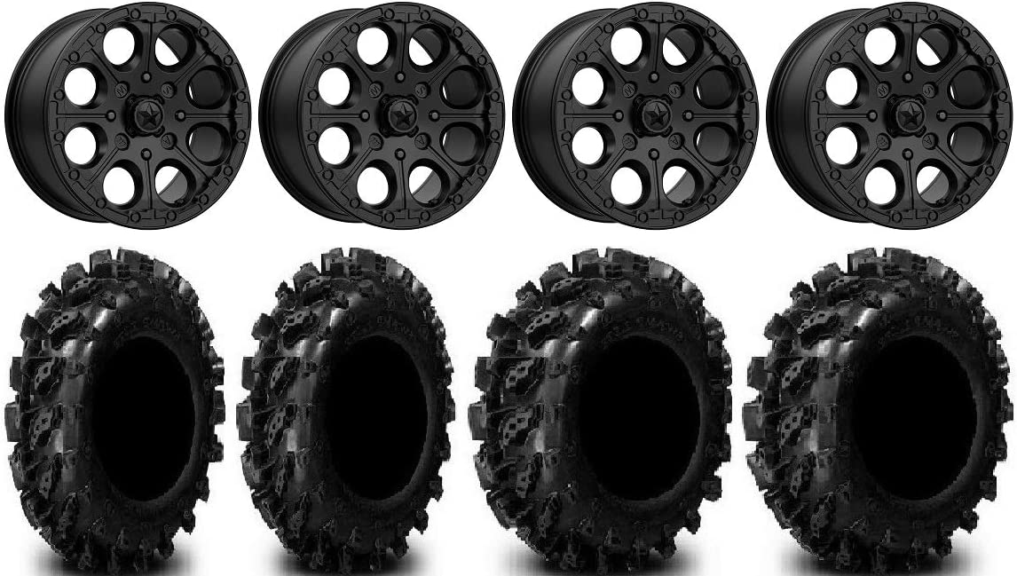 Bundle - 9 Items: Free Shipping Cheap Bargain Gift MSA Cannon Beadlock Wheels Recommended Black 14