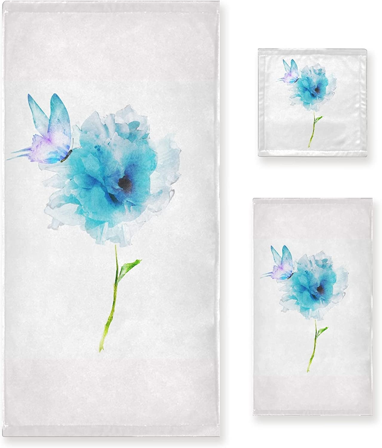Popular product Flower Butterfly Towel Sets 1 Hand Washc Bath Brand new