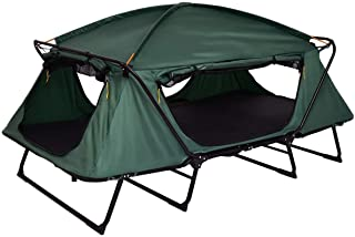 Tangkula Tent Cot Folding Waterproof 2 Person Hiking Elevated Camping Tent with Carry Bag