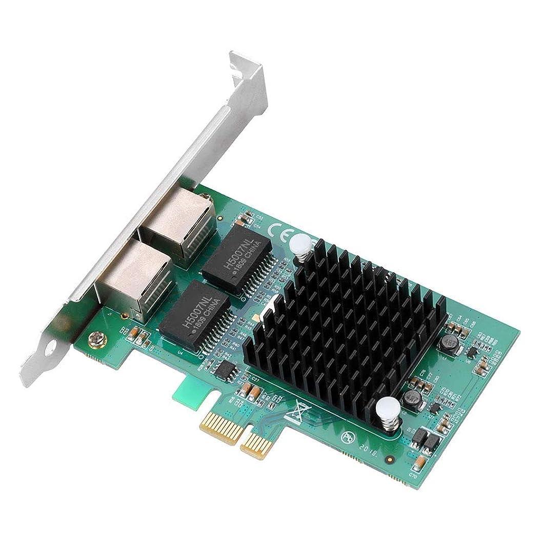 比喩ピッチ抽出PCI-E 2 RJ45ポートギガビットLAN Windows LINUX Intel用 1000M金メッキPCI-Eデュアルポートイーサネットネットワークカードアダプター Office Data Server用 バッフル付き