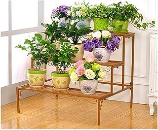 FJFSC Flower Rack Plant Stands Multilayer Pine Wood Flower Stand/Landing Shelves Flower Pots Rack Stand for Balcony Living...