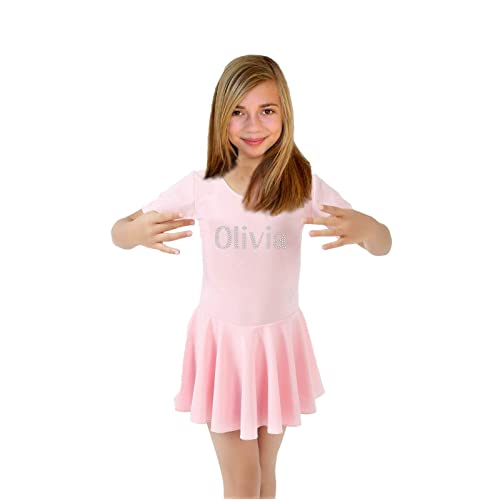 ba83d4ca24 Varsany Personalised Pink Ballet LEOTARD SKIRT perfect for beginners or  advanced ballet dancer Kids ballet Costume