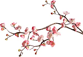 Vacally Artificial Silk Fake Flowers Plum Blossom Floral Wedding Bouquet Party Decor Home Garden Wedding Floral Sweet Decor Living Room Bedroom Plant Decor