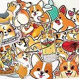 10 Random Cute Colorful Animals Corgi Husky Cats Stickers Car Laptop Waterbottle Decals for Kids Teens Adults (Corgi)