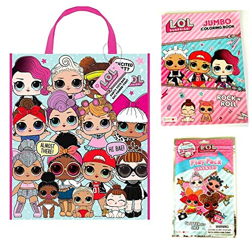 Multi Activity Tote Filled with Coloring Books, Play Pack with Stickers, & Crayons (LOL Surprise)