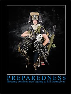 Evike Promotional Preparedness Motivational Poster Featuring Mo Molle Mo Problems Optic Thunder Zombie Matt - 18in x 24in - (40247)
