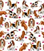BlessLiving Red Hearts Dog Cat Print Plush Blanket Cute Puppy for Kids Adults 3D Animal Print Plush Blanket Gift for Pet Lovers (Basset Hound,Throw, 50 x 60 Inches) #1