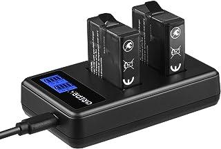 GREPRO Cargador 2 Pack Batería de Repuesto con Cargador Dual USB para GoPro Hero 5 Hero 5 Black AHDBT-501 Hero (2018) Hero 6 BlackHero 7 Black