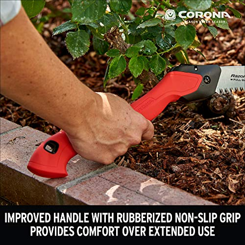 Corona RS16150 RazorTOOTH Folding Pruning Saw, 10-Inch, Curved Blade, Red