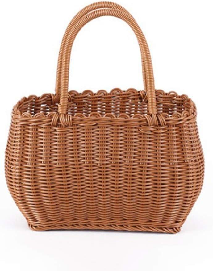 Aohi WXQ-XQ - Direct sale of Under blast sales manufacturer Picnic Basket-Plastic Imitation Stora Woven Rattan