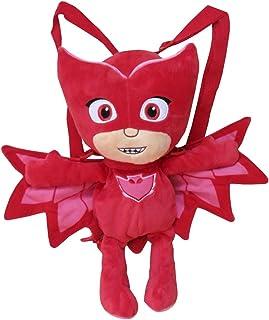 CYP- Peluche Mochila PJ Masks 3D Buhita, Color Rojo (102MCPJ)