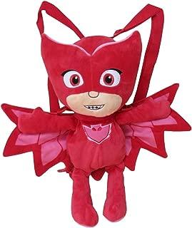 C Y P- Peluche Mochila PJ Masks 3D Buhita, Color Rojo (CYP 102MCPJ)