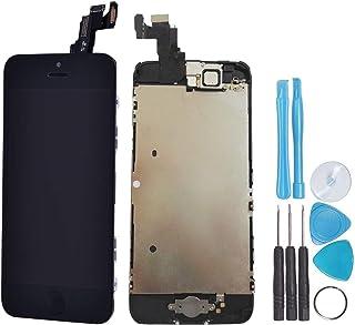 LL Trader Para iPhone 5c Negro Pantalla LCD digitalizador de pantalla táctil Full montaje lente de cristal de repuesto (incluye botón de inicio, cámara, Sensor Flex, Shield plato) + incluye herramientas brillantes