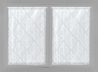 Soleil d'ocre Paire de brise bise 60x90 MAUD Blanc, Polyester, 60x90 cm