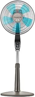 Rowenta Fan, Oscillating Fan with Remote Control, Standing Fan, 4-Speed, Silver