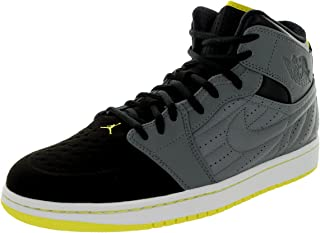 [654140-032] AIR Jordan AIR Jordan 1 Retro 99 Mens Sneakers AIR JORDANCOOL Grey VBRNT Yellow Black White