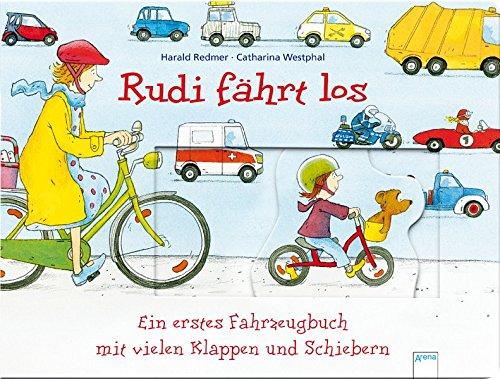 Rudi fährt los: Ein erstes Fahrzeugbuch mit vielen Klappen und Schiebern