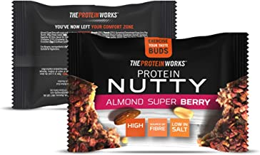 The Protein Works Protein Nutties Single, High Protein Nut Snack, Almond Super Bery, 40 g