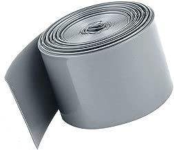 Socell 5M/16.4Ft PVC Heat Shrink Tubing Wrap for 4 x 18650 Battery Shrink Sleeve Insulation casing Heat Shrink (85mm Width Grey)