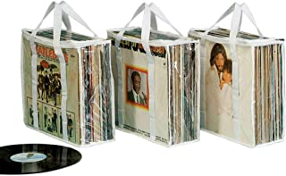 Vinyl Record Protectors, Clear Plastic Storage Bag for Music Albums - Set of 3