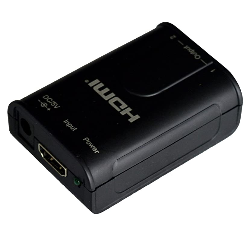 HDMI Splitter 1 in 2 Out, PCT Portable HDMI Splitter, 4K UHD Resolution, for Laptop, PC, Monitor, HDTV, Projector, Plastic Shell