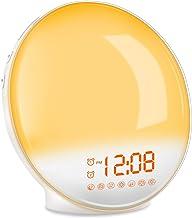 TITIROBA Wake-Up Light, Sunrise Simulation Alarm Clock, Sleep Aid Colored Bedside Light with FM Radio Dual Alarm Adjustabl...