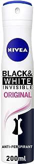 NIVEA, Deodorant Female, Invisible Black & White, Original, Spray, 200ml
