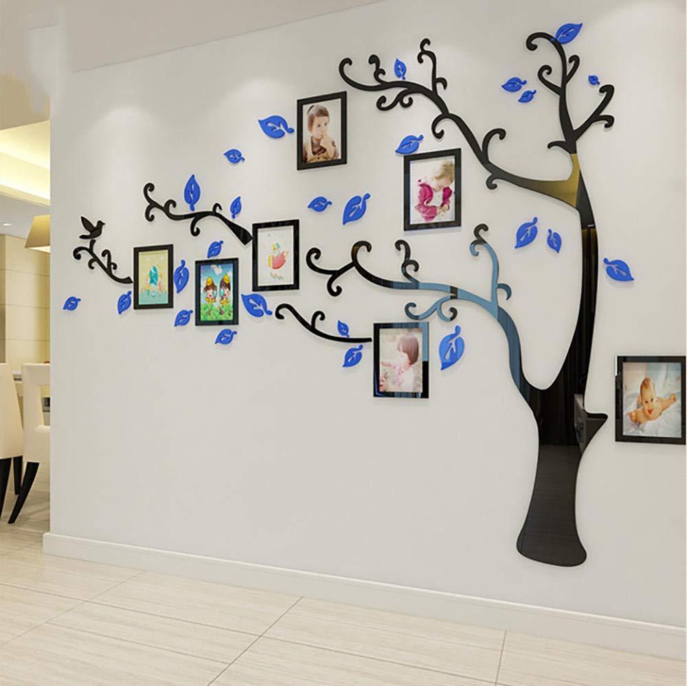 Amazon Co Jp 3d ウォールステッカー ステッカー テレビの背景 反射光 貼っ 壁紙 壁イラストウォールデコレーション ウォールペーパー 壁紙シール デジタルフォトフレーム リビングルーム てはがせる 立体 壁装飾 居間 寝室 多色 複数のサイズ ブルー右 2 3m 1 75m Home