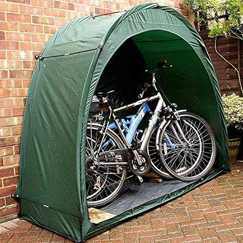DZYQ Large Capacity Bicycle Tent, Portable Durable Windproof And Rainproof Bicycle Cover, Storage Tent, Bike Tent for outside Storage,Green