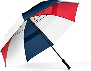 ShedRain Windjammer Vented Golf Umbrella: Navy, Red and White