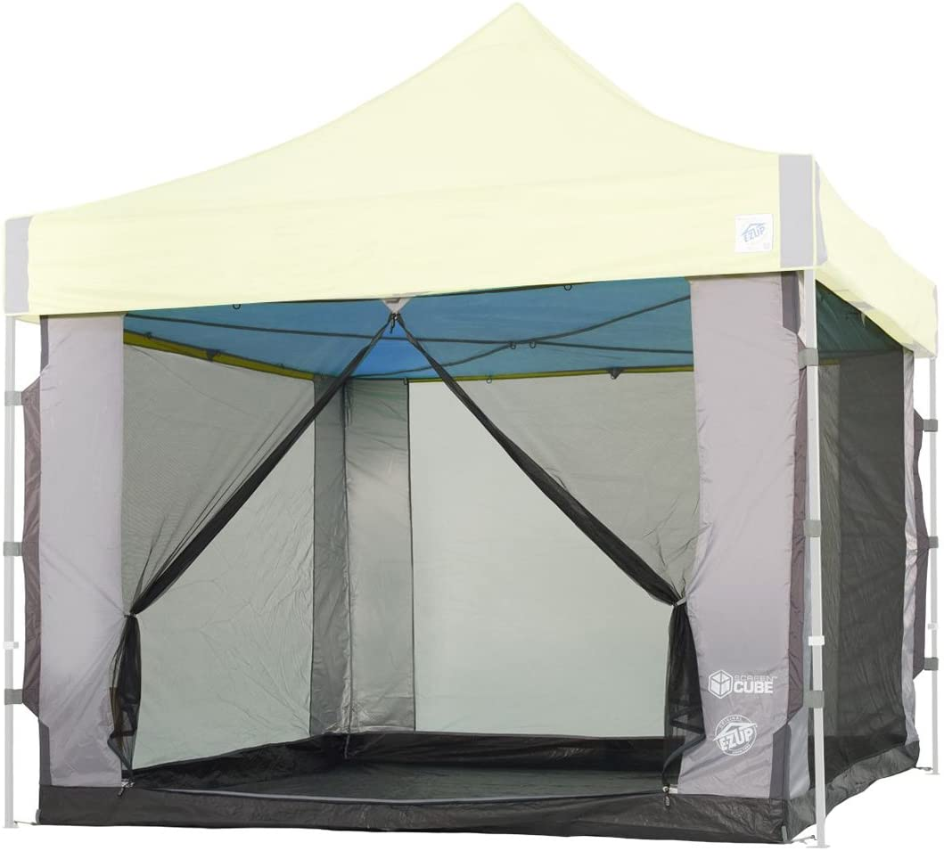 E-Z UP SC10SLGY Cube Fits 10' Straight Max 67% OFF Japan's largest assortment Canopy x Leg Screen