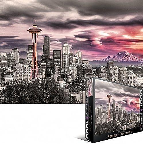 punto de venta en línea EuroGraphics EuroGraphics EuroGraphics Seattle City Skyline Puzzle (1000-Piece) by EuroGraphics  Con precio barato para obtener la mejor marca.