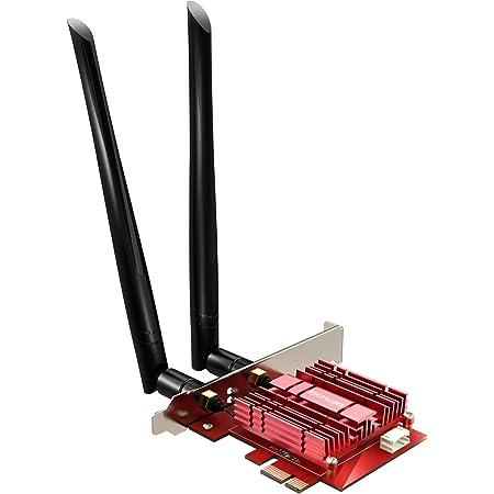 EDUP LOVE PCIE WiFi 6 Bluetooth Adapter Bluetooth 5.1 Wi-Fi Card Heat Sink AX 3000Mbps AX200 Dual Band 5.GHz/2.4GHz PCI-E Wireless WiFi Network Adapter Card for Desktop PC Windows 10 64-bit