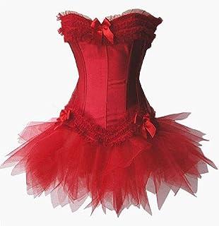 Bslingerie ゴシック ビクトリア クラブウェア コルセットドレス 糸のスカート レース フリル ビスチェコルセット 4色 選択