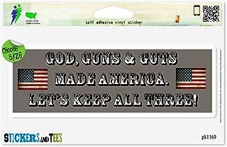 God Guns and Guts USA Car Sticker Indoor Outdoor 8
