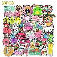 おもちゃ 漫画面白いステッカー屋外VSCOの女の子かわいい動物子供のためのDiyスケートボードのラップトップ荷物車冷蔵庫の自転車のための防水デカール (Color : 50PCS Q)