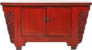 Yajutang - Aparador de Estilo Antiguo de China con Tallado 2 Puertas Color Rojo
