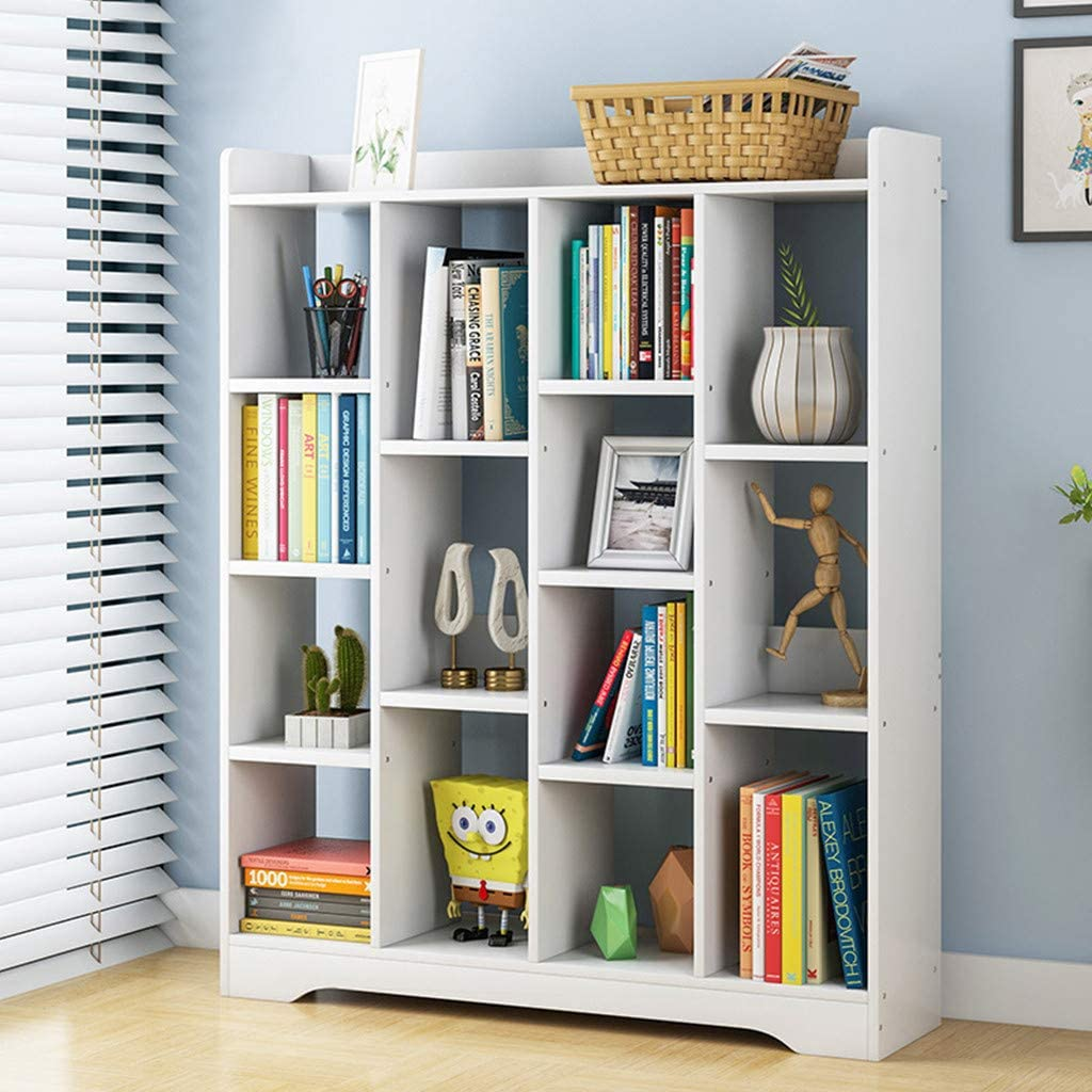 Simple Floor Bookshelf Kids Max 87% Houston Mall OFF B Modern Corner Bookcase