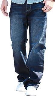 FREIE LIEBE(フレイリビ) デニムパンツ 大きいサイズ ゆったり ワイド ジーンズ ワイドパンツ ストレート カジュアルパンツ メンズ