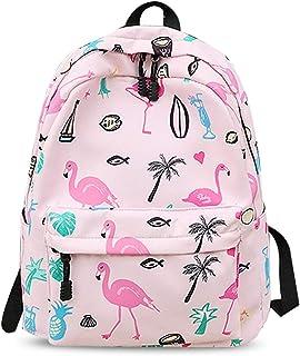 Nuevo Mochila Mochilas Tipo Casual Flamenco Bolsas Escolares Niña Bolsa de Viaje Bolsos de Mujer Adolescente Backpack School Bag Outdoor Viaje Infantiles Daypack Impermeable Poliéster