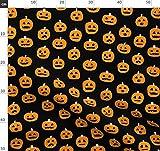 Kürbis, Halloween, Ausgehöhlter Kürbis, Oktober Stoffe -