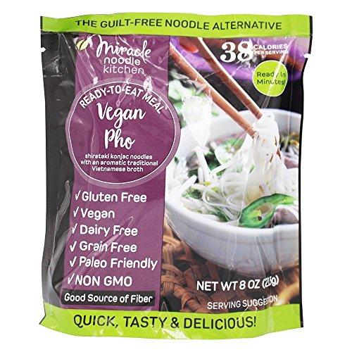 MIRACLE NOODLE, RTE MEAL, PHO, 6 Stück, Größe 8 oz – ohne künstliche Inhaltsstoffe, glutenfrei, vegan