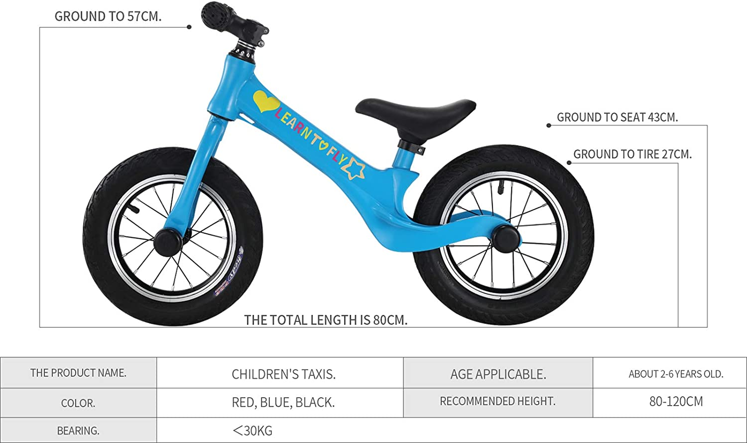 Scooter.12 inch Magnesium Alloy Frame.2 3 4 5 6 Years Old Children use. Childrens Balance Bike Training Bike