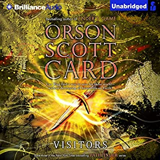 Visitors     Pathfinder Series, Book 3              By:                                                                                                                                 Orson Scott Card                               Narrated by:                                                                                                                                 Kirby Heyborne,                                                                                        Emily Rankin,                                                                                        Stefan Rudnicki                      Length: 16 hrs and 18 mins     49 ratings     Overall 4.1